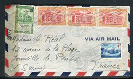 Dominicaine - Enveloppe Pour La France En 1945 Avec Contrôle Postal - Ref D253 - Dominicaine (République)