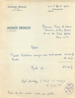 SUZANNE GERAUD ANTOQUITES DECORATION 50 RUE JACOB PARIS VI 1952 - 1950 - ...