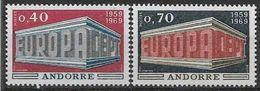 1969 ANDORRE Français 194-95** Europa - French Andorra