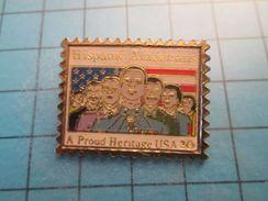 Pin513j Pin's Pins : Rare Et Belle Qualité : TIMBRE POSTE USA HISPANO AMERICANS A PROUD HERITAGE Qu'en Dit Trump ? - Mail Services