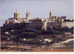 MALTA MDINA CITTA VECCHIA LARGE FORMAT VIAGGIATA BELLE FRANCOBOLLO WWF - Malta