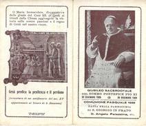 COMUNIONE PASQUALE1989: - S. GIORGIO IN PRATO - PARROCCHIALE  - A  - Mm. 72 X 125 - GIUBILEO SACERD. DI PAPA  PIO XI - Religione & Esoterismo