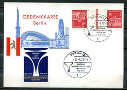 "Germany Berlin 1970 Color Ausstellungs Sonderkarte Mit Mi.Nr.KZ 3a U.SST""Berlin-Industrieausstellung""1 Karte - Factories & Industries"