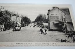 """CPA Aube 10 Camp De Mailly Entrée Du Camp Bazar Pub """"Chicorée Arlatte"""" Tacot  Ed DD N° 23 - Mailly-le-Camp"""