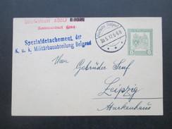 Österreich Bosnien 1.WK 1917 GA Oberleutnant Adolf. Spezialdetachement Der KuK Militärbauabteilung Belgrad.an Gebr. Senf - 1850-1918 Imperium