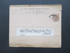 Österreich 1903 Privatumschlag R.v. Waldheim Verlags-Buchhandlung Wien. An Kaiserl. Intendantur Der Marine Kiel - 1850-1918 Imperium