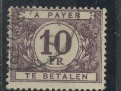 10 F.  Taxe De Belgique N°  65    Oblitéré - Stamps