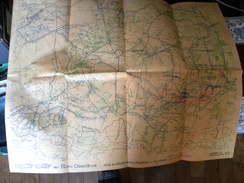 WW1 REPRODUCTION D'une Carte EM De 1917 Secteur Nauroy/ Beine - Documentos