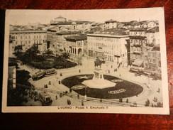 15043) LIVORNO PIAZZA VITTORIO EMANUELE VIAGGIATA 1929 - Livorno