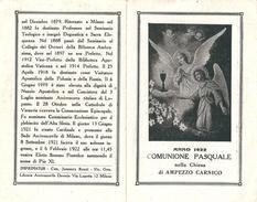 COMUNIONE PASQUALE 1922 - AMPEZZO CARNICO - A - Mm. 76 X 122 - Religion & Esotérisme