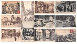 Lot De 25 CPA - Lille (59) Après Le Bombardement - Guerre 1914 1918 - Bon état - Lille
