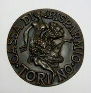 MEDAGLIA - 150° Anniversario Della CASSA Di RISPARMIO Di TORINO (1827 - 1977) Opus: Minguzzi - Bronzo - 77 Mm - Professionals/Firms