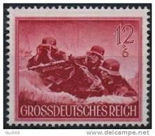 ALLEMAGNE DEUTSCHES III REICH 797 ** Militaria : Soldat Et Mitrailleuse Lourde Wehrmacht - Germany