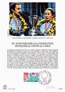 Fédération Française De Tennis De Table - Document 1er Jour Signé Quivillic - Oblitération Annecy 17/12/1977 (DP126) - Tennis De Table
