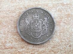 1924 Romania 2 Lei Coin - Very Fine - Romania