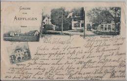 Gruss Von Aeffligen - Postbureau, Station, Schulhaus - BE Berne