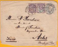 1894 - Entier Postal Enveloppe 1 Penny Avec Complément 1 D Et 1 1/2 De Londres London EO , GB Vers Arles, France  - Obli - 1840-1901 (Regina Victoria)