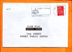 VAR, St Tropez, Flamme SCOTEM N° 19053 - Postmark Collection (Covers)