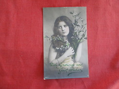 RPPC  Color Tinted  Young Girl  Ref 2754 - Fashion