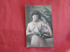 RPPC  Color Tinted  Young Lady Germany Cancel Ref 2754 - Fashion