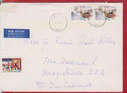 PAR AVION LETTER FINLAND SENT GERMANY - Airmail