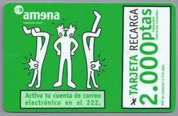 ES.- Telefonica De Espana. CabiTel. - AMENA -. Activa Tu Cuenta De Correo Electronico En El 222.. 2 Scans - Amena - Retevision