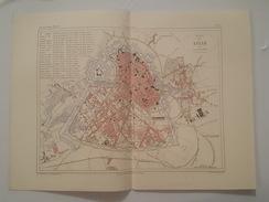 Carte Du XIX ème - Lille Par Malte Brun - Gravé Par Erhard - Rouff éditeur - Cartes Géographiques