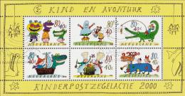 Nederland - Kinderzegels 2000 - Kind En Avontuur - Soep Koken/Feestmutsen/Spelevaren -gebruikt/used/gebraucht -NVPH 1930 - Periode 1980-... (Beatrix)