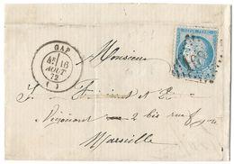 LETTRE Avec N° 60 ; 48 G1  ;2 ème état  TTB - 1871-1875 Cérès