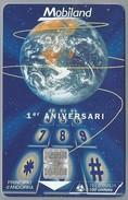 AD.- ANDORRA. MOBILAND. 1er ANIVERSARI. Servei De Telecomunicacions D'Andorra. STA. Tiratge: 10.000 Ex.. 2 Scans - Andorra