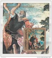 """Bf. 187A Manama 1972 """" Il Sacrificio Di Abramo """" Quadro Dipinto Dal Veronese Paintings Manierismo Bibbia - Arte"""