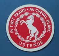 """Rare ! - Sous-bock - Ostende - """"In't Wit Paard - Au Cheval Blanc - Envoyé Non Timbré - Taxe - 29-7-1954 - Sous-bocks"""