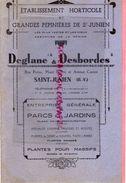 87- SAINT JUNIEN-RARE CATALOGUE DEGLANE & DESBORDES-HORTICULTURE PEPINIERES-1938-1939-IMPRIMERIE DUBOUCHET ROCHECHOUART - Documents Historiques