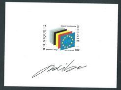 Belgique - Feuillet NA 10- 2001 - Projet Non Adopté. Création Paul Ibou. Scan Recto/verso. - Belgique