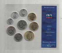 Monnaie , Slovénie , FDC Sous Blister D'origine , Dernieres Monnaies En Tolar , Blister De 9 PIECES - Slovenia
