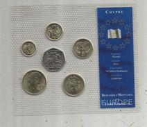 Monnaie , Chypre , FDC Sous Blister D'origine , Dernieres Monnaies En Livre Chypriote , Blister De 6 PIECES - Chypre