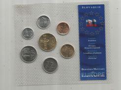 Monnaie , Slovaquie , FDC Sous Blister D'origine , Dernieres Monnaies En Couronne Slovaque , Blister De 7 PIECES - Slovakia