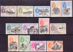 SIERRA LEONE 1956 SG #210-22 Compl.set Used CV £65 - Sierra Leone (...-1960)
