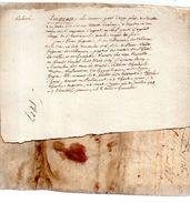 GUIGNACE. 1/2 Page.travail D'un Généalogiste Du 19e Siècle. - Documents Historiques