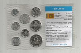 Monnaie , Sri Lanka , FDC Sous Blister D'origine ,  Monnaies En Cent Et Roupie , Blister De 8 PIECES - Sri Lanka