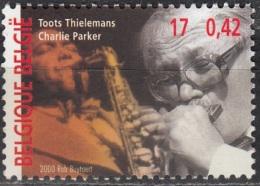 Belgique 2000 COB 2962 Neuf ** Cote (2016) 1.00 Euro Toots Thielemans & Charlie Parker - Belgio