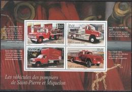 Saint-Pierre & Miquelon 2013 Yvert F1078 Neuf ** Cote (2015) 5.20 Euro Véhicules De Pompiers - Blocs-feuillets