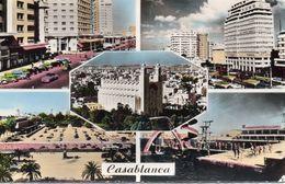 Maroc Casablanca Belle Multi-vues Animée Place De France Place Lyautey La Piscine - Casablanca