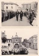 MAZIERES  -  Lot De 2 Clichés Du Village En 1954  - La Place  -  Eglise  -  Voir Description - Mazieres En Gatine