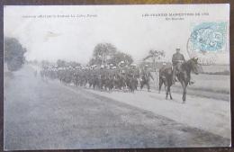 Carte Postale Militaire - Les Grandes Manoeuvres De 1905 - En Marche - Animée - Journal La Libre Parole - Circulée - Régiments