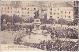 BELFORT INAUGURATION DU MONUMENT 1913 CPA BON ÉTAT - Belfort - Ciudad