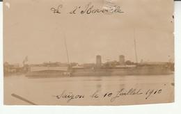 Saïgon-Bateau D'Iberville-1910-Photo 95x60mm. - Viêt-Nam