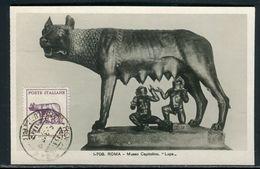 Italie - Carte Maximum 1949 - Art , Bronze Du Capitole , La Louve - Cartoline Maximum