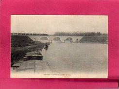 77 Seine Et Marne, Trilport, Le Pont De Chemin De Fer, Train, Locomotive, Wagons, (A. Breger) - Francia