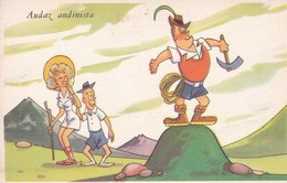 ARGENTINE. AUDAZ ANDINISTA. ILLUSTRATION BY BENZ. ED BLOTTA Y FERRO. CIRCA 1940s. TBE-BLEUP - Humour